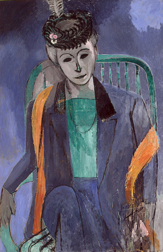 Henri Matisse, 1913, Portrait of the Artist's Wife, Hermitage, St. Petersburg