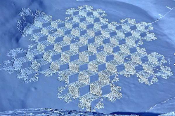 Simon Beck's Snow Art can be found all over the internet. Take an opportunity to explore his amazing creative work.